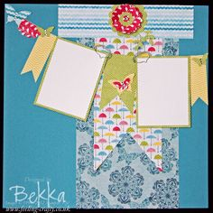 Rain or Shine Scrapbook Page designed by Bekka Prideaux for her Team of Stampin Up! Demonstrators -