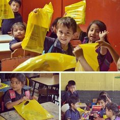 Estos pequeños les agradecen su colaboración en la campaña de donación de útiles escolares. #soylandivar #URL #ulandivar #url #voluntariado