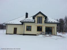 Projekt domu Dandys 1 G2 146,22 m2 - koszt budowy - EXTRADOM Cabin, Mansions, House Styles, Home Decor, Decoration Home, Manor Houses, Room Decor, Cabins, Villas