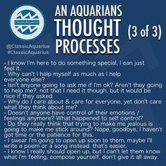 What goes on in an Aquarians mind? A look into an Aquarians thought processes. #ClassicAquarius #Aquarius #Aquarians