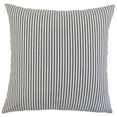 The Pillow Collection P18-M-FILLY-BLACK-C100 Ira Stripes Pillow, Black