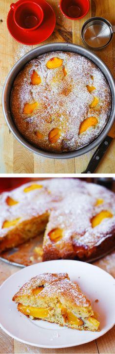 Gluten Free Peach Yogurt Cake