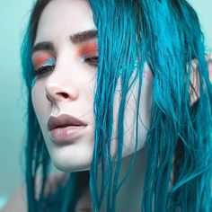 Mermaid babe in our Cyan Sky Arctic Fox Aquamarine, Gorgeous Hair Color, Hair Colour, Rasta Hair, Dyed Hair Blue, Turquoise Hair, Hair Sticks, Hairstyles With Bangs, Balayage Hair