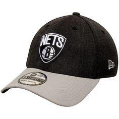 online retailer 09c60 4377a Men s New Era Heathered Black Gray Brooklyn Nets Current Logo Change Up  Classic Flex Hat