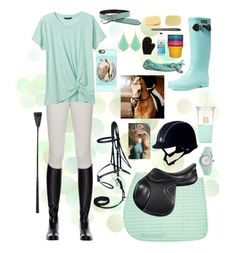 """Mint Ride"" by thepreppy-equestrian ❤ liked on Polyvore featuring Clyda, Aigle, Miasuki, Banana Republic, Kate Spade, Casetify and Kendra Scott"