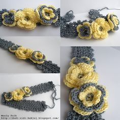 Come, see, chrochet: Spring headbands with Irish flowers