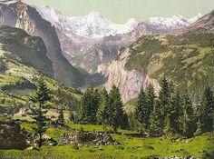 Breithorn from Wengen, Bernese Oberland, Switzerland