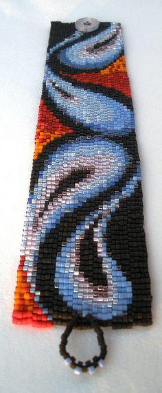 022, via Flickr.  #beadwork #peyote #bracelet