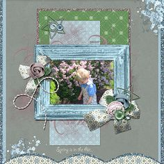 """Spring is in the Air  Credits:    """"Lilac Dreams"""" Collection QPA2 by Dees-Deelights Font:  Giddyup Std  Available at:   My Memories Store  - """"Lilac Dreams"""" Collection Exclusive Quick PageA2 : –  https://www.mymemories.com/store/display_product_page?id=DDDR-QP-1606-108902  Coordinating Products Available at: My Memories Store: Main Kit - https://www.mymemories.com/store/designers/Dees-Deelights"""
