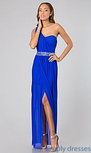 Buy Floor Length One Shoulder Dress at SimplyDresses