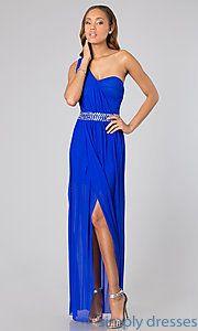 Buy Floor Length One Shoulder Dress at SimplyDresses