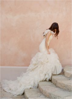 Gorgeous gown against the blush backdrop