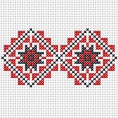 red and blue squares Beaded Embroidery, Cross Stitch Embroidery, Embroidery Patterns, Hand Embroidery, Sewing Patterns, Cross Stitch Designs, Cross Stitch Patterns, Samoan Patterns, Diy Broderie