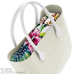 inner zip-up bag - tropical flowers - an O bag classic