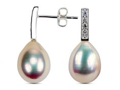 Bree - Golden Pearl & Crystal Earrings