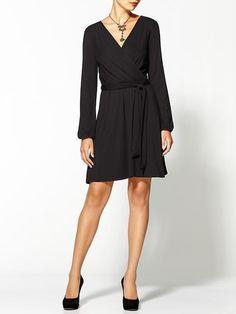 Michael Stars Wren Long Sleeve Surplice Wrap Dress for Sale
