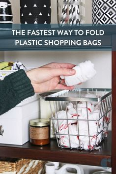 No more shoving a wad of bags into the belly of yet another bag - get that mess together! We'll show you the quickest and easiest way to fold a plastic shopping bag. bag storage How to Fold that Hoard of Plastic Bags that Lives Under Your Kitchen Sink Fold Plastic Bags, Storing Plastic Bags, Plastic Bag Storage, Plastic Shopping Bags, Plastic Bag Holders, Plastic Grocery Bags, Diy Storage, Storage Ideas, Storage For Bags