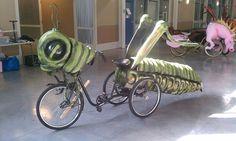 Grasshopper Art Bike Parade Float by Kolossos on Etsy