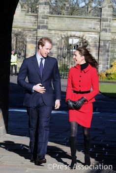February 2011 ~ Prince William and Kate Middleton visit St. Andrews University in Scotland.