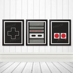 This is awesome!!!! NES Controller Print Set NES Art Nerd Art Geek by BentonParkPrints, $28.00
