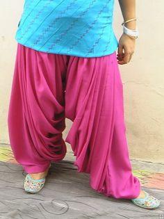 Super Heavy Maharani Patiala Salwar of Crepe Fabric Heavy Patiala Salwar -