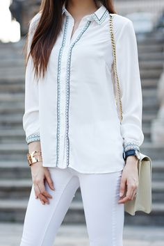 Fashion blogger Larisa Costea wearing our World Cuff // Cristina Ramella Jewelry
