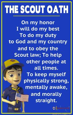 Impeccable image within cub scout oath printable