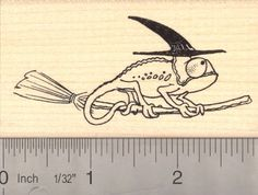 Chameleon Witch Halloween Rubber Stamp *** You can get additional details at the image link.