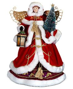 Christopher Radko Christmas Tree Topper, Victorian Delight Heirloom Angel - Holiday Lane - Macy's Christmas Tree Trimming, Christmas Tree Angel, Ghost Of Christmas Past, Christmas Tree Tops, All Things Christmas, Christmas Holidays, Christmas Decorations, Christmas Ornaments, Christmas Ideas