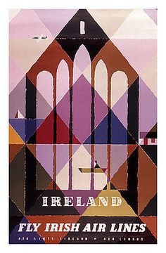 Vintage Travel Poster - Irish Air Lines Abram Games, Travel Ads, Travel Photos, Airline Travel, Air Travel, Posters Uk, Design Poster, Graphic Design, Vintage Travel Posters