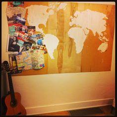 World Map, Travel marker!