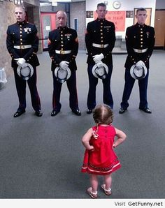 Respect the little girl