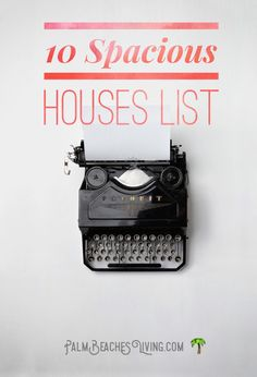 10 Spacious Houses List    What this list has... 1. Houses on the east coast of south Florida 2. Houses with 5,000 sq ft of living space or more 3. Houses with land around one acre or more  Sign up for advice on housing in south Florida and much more - directly to your inbox