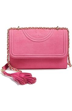 Tory Burch Small Fleming Snake Embossed Convertible Shoulder Bag available at #Nordstrom