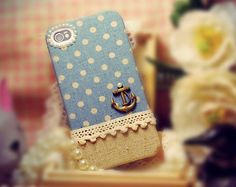 Polka Dot Anchor iPhone case