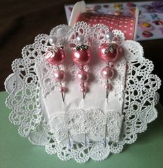Floral Stick Pins ~ Nice way to display them