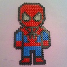 Spiderman perler beads by 13_tiedye
