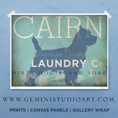 French Bulldog frenchie dog laundry company laundry room artwork giclee archival signed artists print by stephen fowler Pick A Size Wheaten Terrier, Terrier Dogs, Cairn Terriers, Laundry Company, Dog Branding, Dog Rooms, Scottish Terrier, Print Artist, Baby Dogs