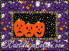 Scary Pumpkins Quilt Pattern  #halloweenplacematquiltpattern #NorthcottFabrics #WoodlandHaunt