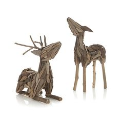 Driftwood Reindeer  | Crate and Barrel