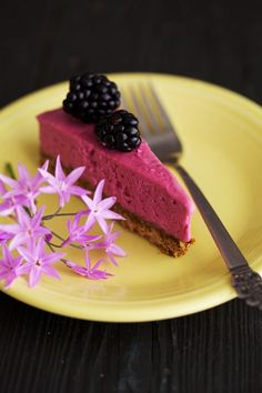 Frozen Berry Cheesecake on a Sunflower Crust (http://golubkakitchen.com/cooking-from-vegetarian-everyday/)