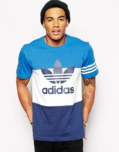 Camiseta en colour block de Adidas Originals