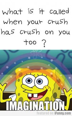 what is it called when your crush has a crush on you too? IMAGINATION.