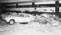 Automoviles dañados durante el terremoto en Caracas el  29 de julio de 1967.  (MIGUEL ANGEL SANCHEZ / ARCHIVO EL NACIONAL)