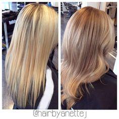 From bleached blonde to blonde bombshell!:) #illumina #wella #wellalife #wellahair #wellaeducation #wellamastercolorexpert #Blonde #girl #copenhagen #frederiksberg #olaplex #olaplexdanmark #balayagehair #balayage #balayageombre #sexyhair #instahair #tagsforlikes #tags #trending