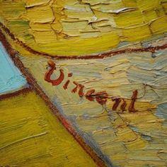 Detail of Vincent van Gogh's signature (Vase with Twelve Sunflowers)