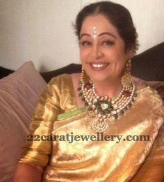 Jewellery Designs: Kirron Kher Jadau Kundan Set