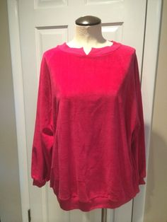 Vintage Fuschia Velour Pull Over Top
