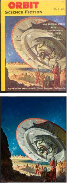 RUDOLPH BELARSKI - Sept 1953 Orbit Science Fiction - 1st issue Sci Fi Novels, Sci Fi Books, Pulp Magazine, Magazine Art, Horror Comics, Horror Art, Science Fiction Art, Pulp Fiction, Classic Sci Fi