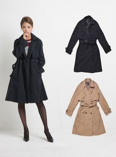 LAP Womens BOXY TRENCH COAT 2 Colors Size S, M (AF4WCF04) #LAP #TRENCHCOAT